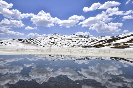 winter season difficult to reach mountains