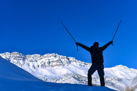 challenge the snowy mountains and nature
