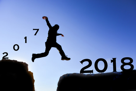 run for a new year Stock Photo