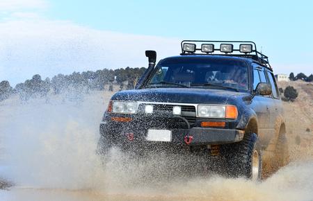 land en modder monster voertuig Stockfoto