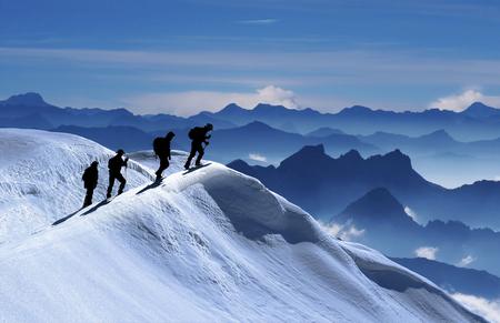 mountaineering & hiking & activity & peak success