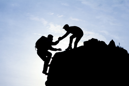 climber, help, support and cooperation