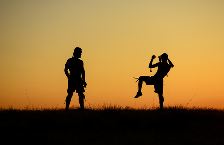 martial arts scene and training