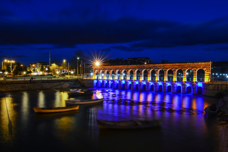 lake irrigation bridge and lighting
