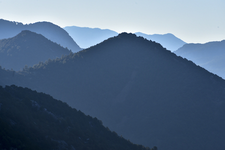 mysterious, mystical and extraordinary mountain layers 스톡 콘텐츠