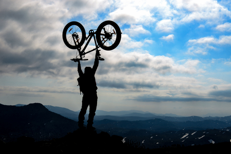 bicycle adventure in dangerous and wild mountains