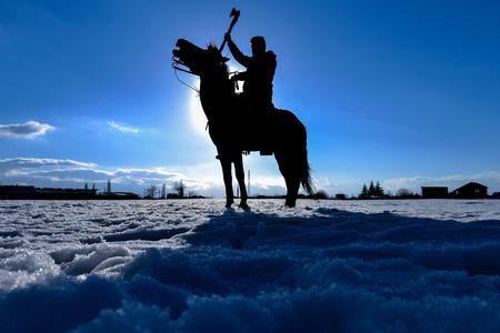 horse warrior model on the battlefield