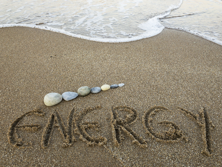 great energy given by the sea, synergy and health Stock Photo
