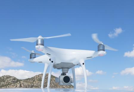 aerial imaging device for media work, presentation and presentation Stockfoto
