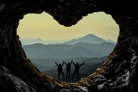 Climbers enjoying spectacular and fascinating mountains