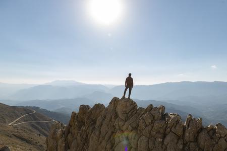 Climbers climbing spectacular and fascinating mountains
