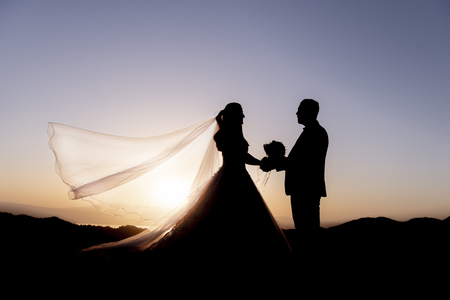 marriage memory, merger and wedding story Stockfoto
