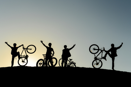 cycling youth, successful peak goal