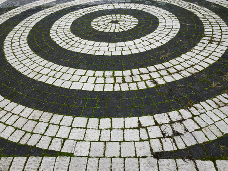 pavement and stone designs on roads