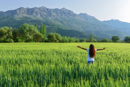 crops, nature and peaceful concept