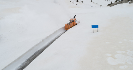 winter landscapes of scoop and roads Stok Fotoğraf