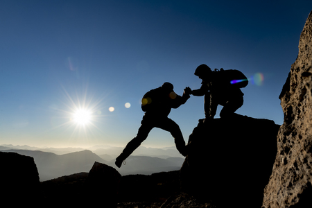 mountaineer help,determination of accomplishment together