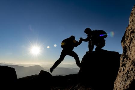 pomoc alpinistów, wspólne ustalanie osiągnięć