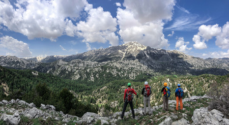 climbers summit plans and route route