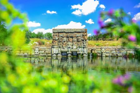 Hittite work, water cistern, tourist region and magnificent landscape