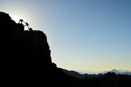 strong, proud and successful climber duo achieving the impossible
