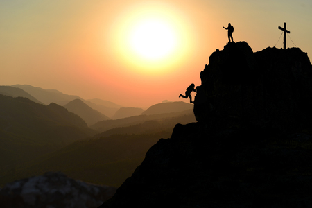 hard struggle, perseverance and mountaineering passion