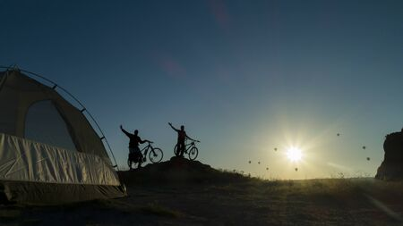 two people cycling adventures and trips to cappadocia