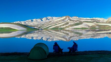 camping and sightseeing in relaxing nature