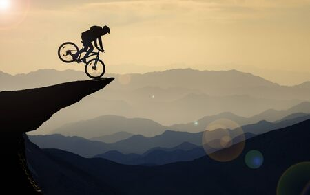 bike rides in unusual places Stockfoto