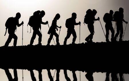 harmonious activity of mountain climbing group