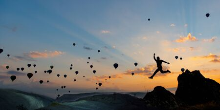 an energetic and enthusiastic sunrise for the traveler and fascinating balloon views of Cappadocia
