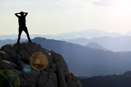 montañas fascinantes, fantásticas y espectaculares Foto de archivo