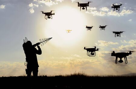 blocking unauthorized drone devices and sabotages Stock fotó