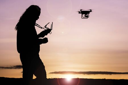 professional drone flying and special shots Archivio Fotografico