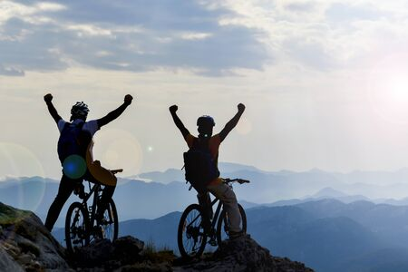 ride bicycles and reach high mountains