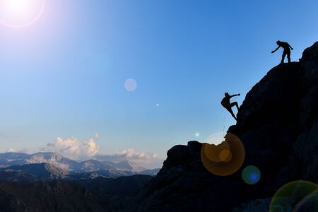 challenging rock climbing and successful team spirit
