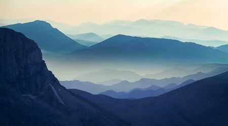 magnificent mountain ranges in the middle toros mountains