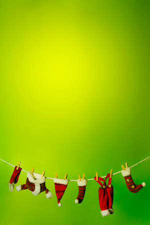Washing line with Santas dresses