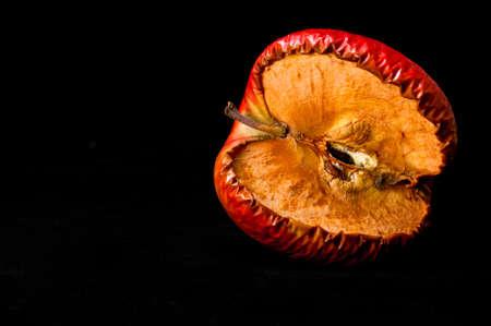 Shrivel red apple
