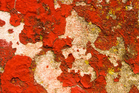 Old red scratched wall