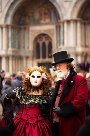 23 february 2020, Venice, Italy. Venetian masks