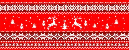 pullover: Christmas sweater print Illustration