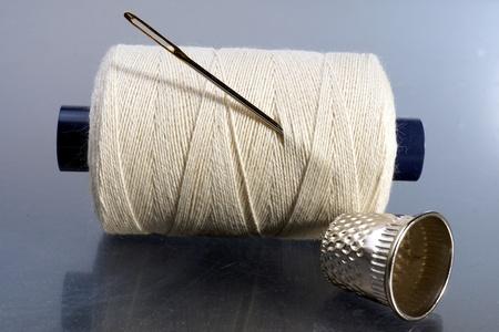 sewing kit: Sewing Kit Stock Photo