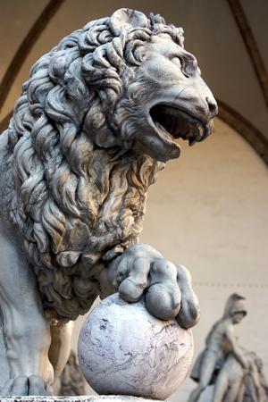 signoria square: Florence, one of the Lions of Signoria Square