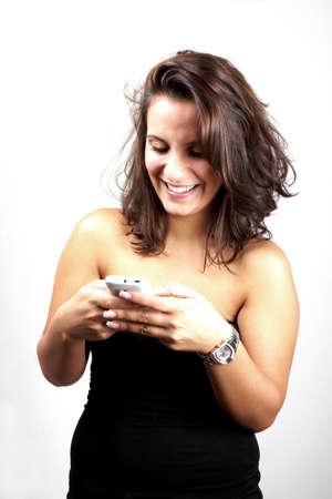 Girl with Phone photo