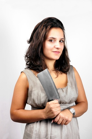 cannibal: Girl with cleaver
