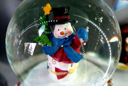 Christmas snow globe photo
