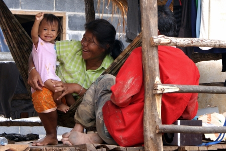Rural thai family Stock Photo - 22193586