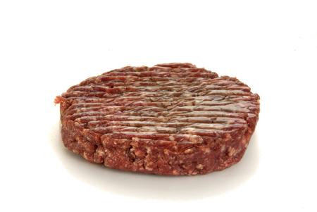 butcher s shop: Raw Hamburger Stock Photo