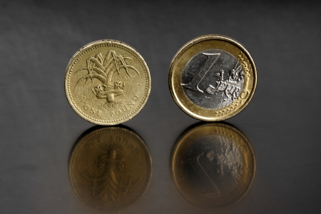 Pound and Euro photo